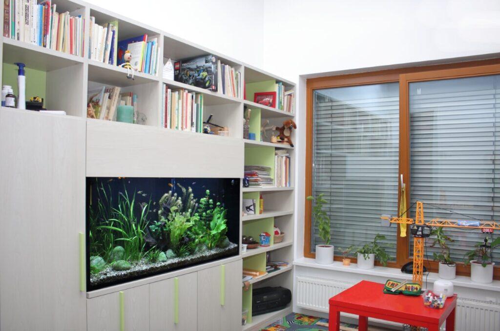 Akvárium na míru – dětský pokoj – 400litrů